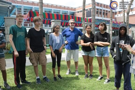 Outdoor Learning to American International School Students